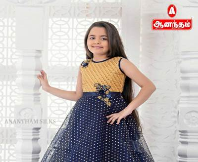 744247808b2 Party Wear Fancy Long Maxi Dress for Girl s Only   Anantham Silks